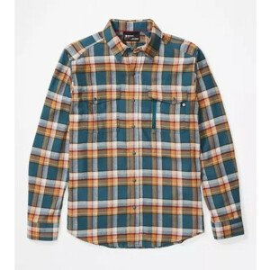 Pánská košile Marmot Tromso Midweight Flannel LS Velikost: XL / Barva: modrá