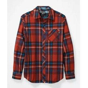 Pánská košile Marmot Anderson Lightweight Flannel Velikost: XL / Barva: červená
