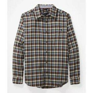 Pánská košile Marmot Fairfax Midweight Flannel LS Velikost: M / Barva: hnědá