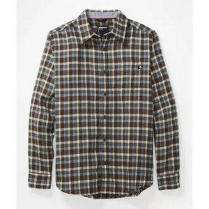 Pánská košile Marmot Fairfax Midweight Flannel LS Velikost: L / Barva: hnědá