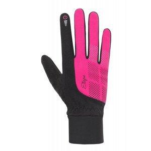 Rukavice Etape Skin WS+ Velikost rukavic: L / Barva: černá/růžová