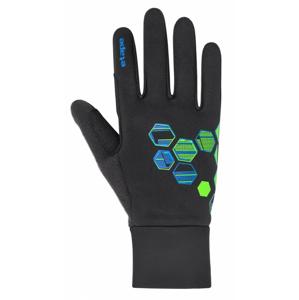 Dětské rukavice Etape Puzzle WS Velikost rukavic: 11-12 / Barva: černá/zelená