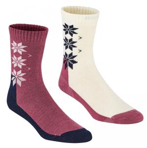 Dámské ponožky Kari Traa Kt Wool Sock 2PK Velikost ponožek: 39-41 / Barva: růžová