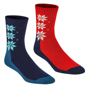 Dámské ponožky Kari Traa Kt Wool Sock 2PK Velikost ponožek: 39-41 / Barva: modrá/červená