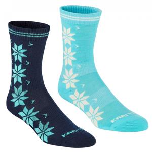 Ponožky Kari Traa Vinst Wool Sock 2PK Velikost ponožek: 39-41 / Barva: modrá