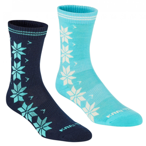 Ponožky Kari Traa Vinst Wool Sock 2PK Velikost ponožek: 36-38 / Barva: modrá