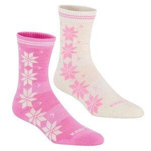 Ponožky Kari Traa Vinst Wool Sock 2PK Velikost ponožek: 39-41 / Barva: bílá/růžová
