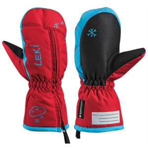 Dětské lyžařské rukavice Leki Little Snow Mitt Velikost rukavic: 3 / Barva: červená