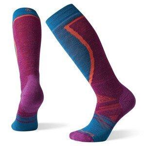Dámské podkolenky Smartwool W Phd Ski Medium Velikost ponožek: 38-41 / Barva: modrá/růžová