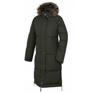 Dámský péřový kabát Husky DOWNBAG L Velikost: M / Barva: tmavě zelená