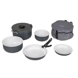 Vystavená Sada nádobí Bo-camp Cookware set Camping 7 Barva: černá/bílá