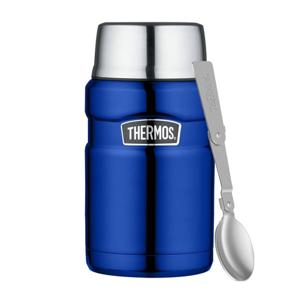 Vystavená Termoska na jídlo se skládací lžící a šálkem Thermos 710 ml Barva: modrá
