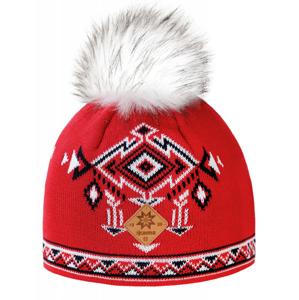 Pletená Merino čepice Kama A139 Barva: černá/červená