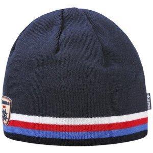 Pletená Merino čepice Kama A154 Barva: tmavě modrá