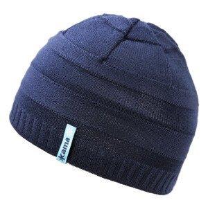 Dětská pletená Merino čepice Kama B78 Barva: tmavě modrá