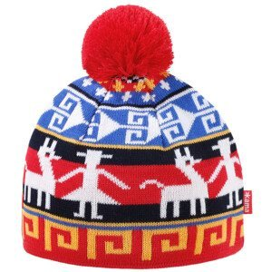 Dětská pletená Merino čepice Kama B81 Barva: červená