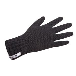 Pletené Merino rukavice Kama R102 Velikost rukavic: M / Barva: černá