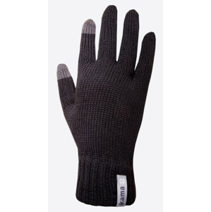 Pletené Merino rukavice Kama R301 Velikost rukavic: S / Barva: černá