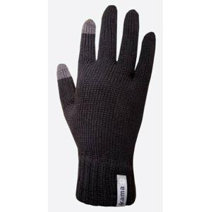 Pletené Merino rukavice Kama R301 Velikost rukavic: L / Barva: černá