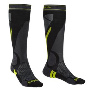 Pánské ponožky Bridgedale Ski Lightweight Velikost ponožek: 44-47 / Barva: černá