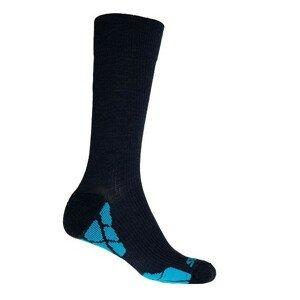 Ponožky Sensor Hiking Merino Velikost ponožek: 39-42 / Barva: černá/modrá