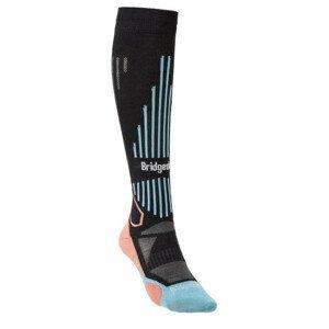 Dámské ponožky Bridgedale Ski Lightweight Women's Velikost ponožek: 35-37 / Barva: černá
