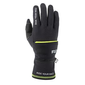 Rukavice R2 Cover Velikost rukavic: L / Barva: černá/žlutá