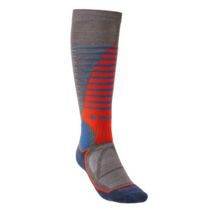 Pánské ponožky Bridgedale Ski Midweight Velikost ponožek: L / Barva: hnědá