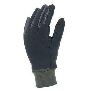 Rukavice SealSkinz WP All Weather Lightweight Fusion Control™ Velikost rukavic: M / Barva: černá/šedá