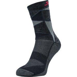 Ponožky Silvini VALLONGA UA1745 Velikost ponožek: 45-47 / Barva: černá