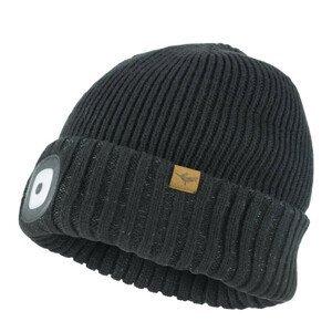 Čepice Sealskinz Cold Weather LED Roll Cuff Velikost: S/M / Barva: černá
