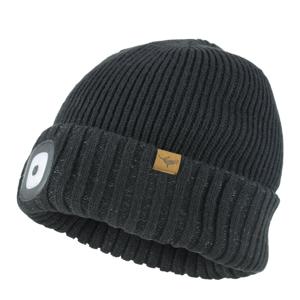 Čepice Sealskinz Cold Weather LED Roll Cuff Velikost: L/XL / Barva: černá