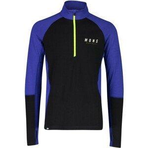 Pánské funkční triko Mons Royale Olympus 3.0 Half Zip Velikost: M / Barva: modrá/černá
