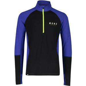 Pánské funkční triko Mons Royale Olympus 3.0 Half Zip Velikost: XL / Barva: modrá/černá