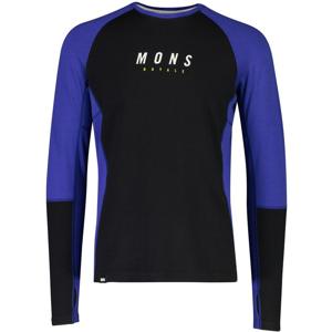 Pánské funkční triko Mons Royale Olympus 3.0 LS Velikost: M / Barva: modrá