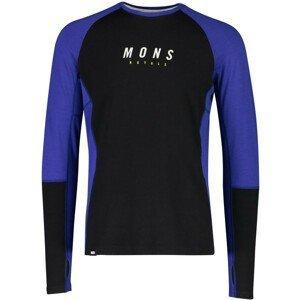 Pánské funkční triko Mons Royale Olympus 3.0 LS Velikost: L / Barva: modrá