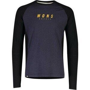 Pánské funkční triko Mons Royale Olympus 3.0 LS Velikost: XL / Barva: černá