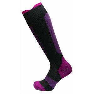 Dětské podkolenky Apasox Lappi P Velikost ponožek: 35-38 / Barva: fialová