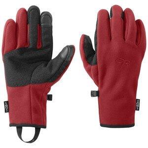 Pánské rukavice Outdoor Research Gripper Sensor Velikost rukavic: L / Barva: červená