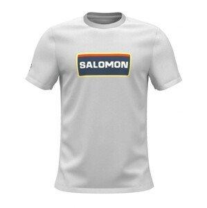 Pánské triko Salomon Outlife Graphic Heritage Ss Tee M Velikost: XXL / Barva: bílá