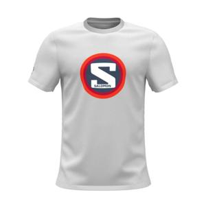 Pánské triko Salomon Outlife Graphic Heritage Ss Tee M Velikost: M / Barva: bílá/červená