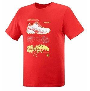 Pánské triko Salomon Outlife Graphic Blueprint Ss Tee M Velikost: L / Barva: červená