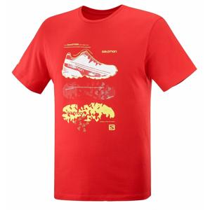 Pánské triko Salomon Outlife Graphic Blueprint Ss Tee M Velikost: XXL / Barva: červená
