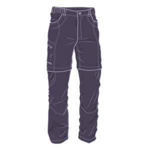 Pánské kalhoty Warmpeace Bigwash zip-off Velikost: M / Barva: šedá