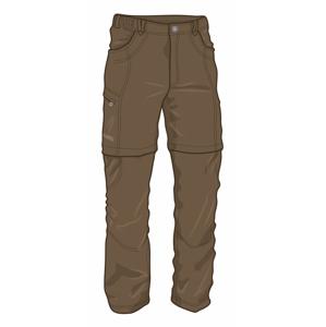 Pánské kalhoty Warmpeace Bigwash zip-off Velikost: M / Barva: hnědá
