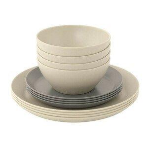 Sada nádobí Outwell Lily 4 Person Dinner Set Barva: šedá/bílá