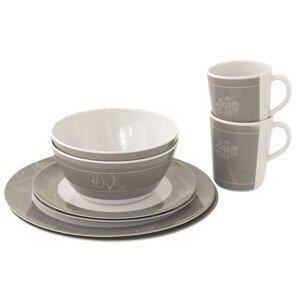 Sada nádobí Outwell Dianella 2 Person Dinner Set Barva: bílá/šedá