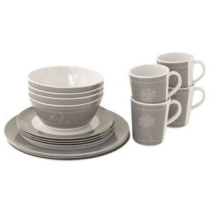 Sada nádobí Outwell Dianella 4 Person Dinner Set Barva: bílá/šedá