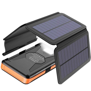 Solární nabíječka Allpowers XD-SC-013-BORA + 25000mAh PowerBank Barva: černá