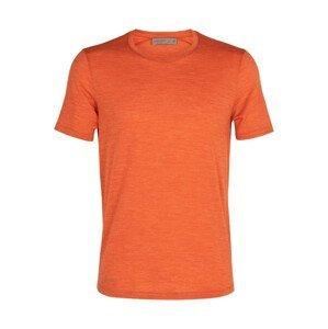 Pánské triko Icebreaker M Sphere SS Crewe Velikost: XL / Barva: oranžová